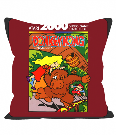 "Cartridge Series 12"" Sofa Cushion Inspired by Donkey Kong on the Atari 2600"